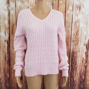 St. John's Bay Sweater Pink V-neck